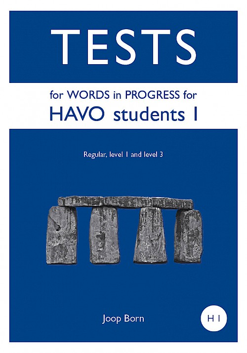 Tests for Words in Progress for HAVO students I